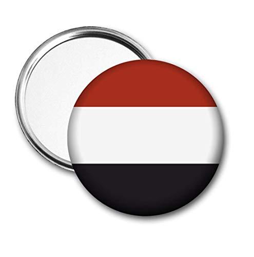 Jemen Vlag Pocket Spiegel voor Handtas - Handtas - Cadeau - Verjaardag - Kerstmis - Stocking Filler - Secret Santa