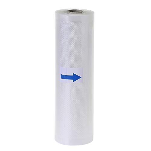 hgfcdd Rollos de bolsas selladoras al vacío para alimentos, 12 cm/15 cm/17 cm/20 cm/25 cm/28 cm (ancho) x 5 m (largo)