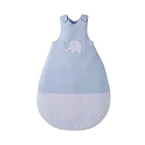 BORNINO HOME Ganzjahresschlafsack Elefant - Schlafsack ohne Ärmel für Babys & Kleinkinder - ganzjährig nutzbar - seitlicher Reißverschluss - blau