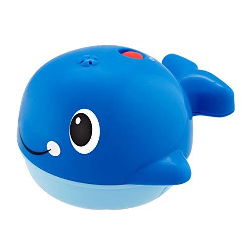 Chicco Ballenita Nada y Salpica - Juguete de Baño para el Agua y Bañera, Ballena con Efecto Fuente, Color Azul, Multicolor, Normal