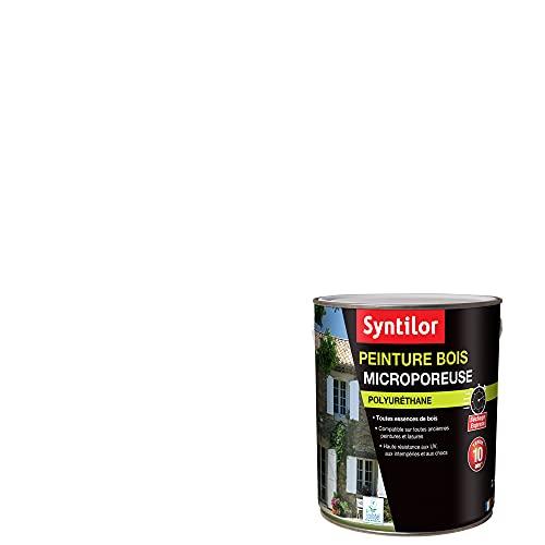 Syntilor - Peinture Bois Ultra Protect Blanc Satiné RAL 9016 2,5L