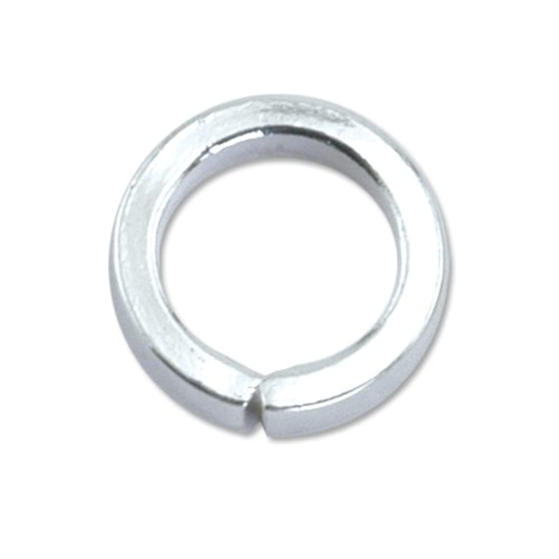 Beadalon Jump Ring Round 7.6mm Nickel Free Silver, Plated, 20-Piece
