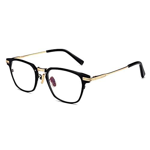 CXNEYE Gafas De Lectura Ultraligeras Hombres, Mujeres, Progresivas, Multifocales, Presbicia, Antiazul, Gafas De Montura Completa De Metal De Titanio Puro