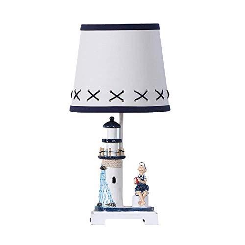 SPNEC Lampada da Tavolo - Lampada da Tavolo Creativa in Stile Marinaro Creativo Lampada da Comodino for Camera da Letto Lampada for Bambini Lampada da Comodino Decorativa for Bambini