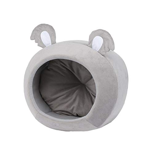 Fugift Warm Cozy Pet Bed Dog Cat House Winter Sleeping Bag Portable Indoor Cave Nest Puppy Tent with Removable Cushion