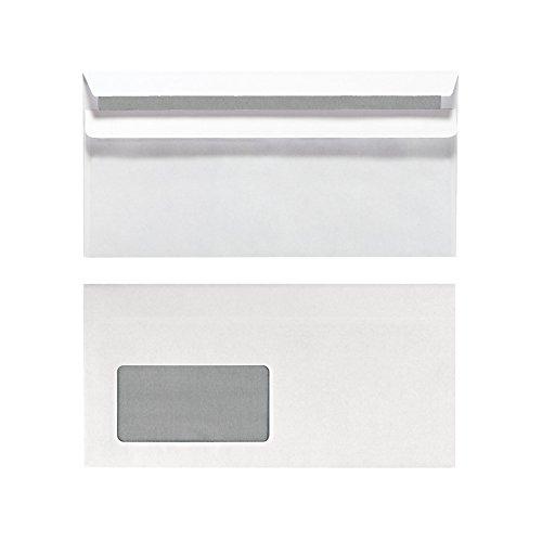 Herlitz 11285541 Briefumschlag Din Lang, selbstklebend mit Fenster, 1000 Stück