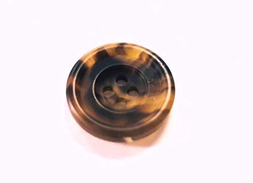 本水牛ボタン シックなつや消し 貴重な茶色 各サイズ・お得な1着分有 定番型 No.530 (25mm)