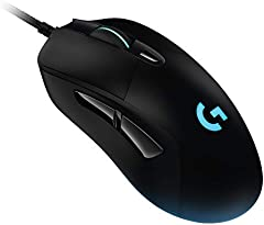 Logitech G403 LIGHTSPEED Ratón Gaming Inalámbrico, Captor HERO 25K, 25,600 DPI, Pesos Ajustables, 6 Botones Programables, Memoría Integrada, Compatible con PC/Mac, Negro