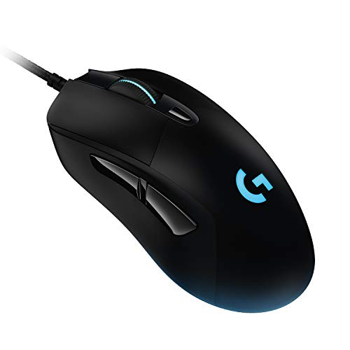 Logitech G403 Lightspeed Ratón Gaming, Captor HERO 16.000 DPI, Pesos Ajustables, 6 Botones Programables, Memoría Integrada, Compatible con PC/Mac, Negro