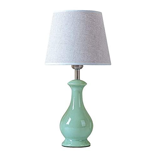HNBMC Lámpara de Mesa - lámpara de Mesa con Pantalla de Tela, clásico clásico Estilo Oriental lámpara de Noche lámpara de mesita de Noche lámpara de lectura-30830h4h3w