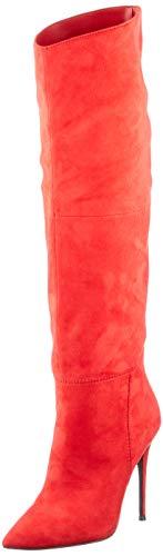 Steve Madden Dakota Red, Botte mi-Mollet Femme, Rouge, 38.5 EU