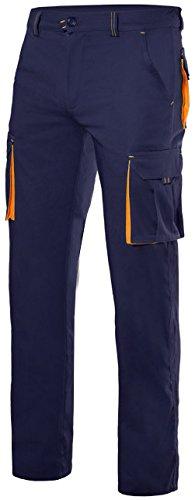 Velilla 103008S/C1-19/T42 Pantalones, Azul marino y naranja fluorescente, 42