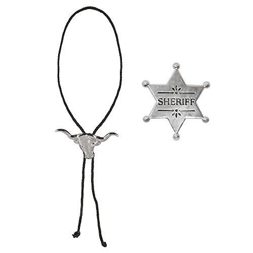 Boland 54316 - traje determinada del vaquero, cadena y estrella de sheriff