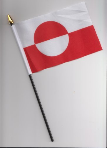 Grönland Hand Flagge 25cm