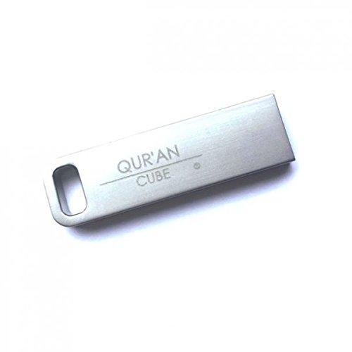 Qur'an CubeR splendidamente inciso USB con 17 Diverse recitazioni del Corano Completo e bei Nasheeds, per i propri Cari