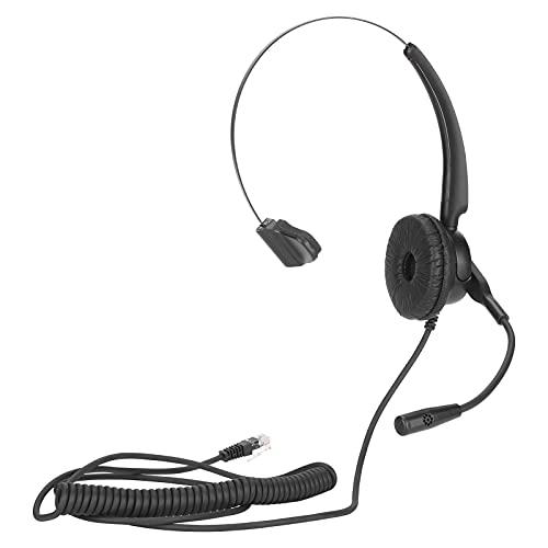 Auriculares para teléfono, Auriculares para un Solo teléfono Auriculares Ajustables con micrófono con reducción de Ruido, Auriculares para Centro de Llamadas con función de protección contra Golpes y
