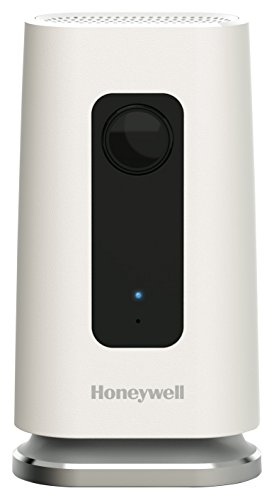 Honeywell Home C1 Wi-Fi Sicherheitskamera mit Bewegungsmelder, Mikrofon und Ton, Geräuscherkennung, 720P HD, 135 Grad Weitwinkel, Nachtsicht, 240 V, weiß, HAWCIC1S