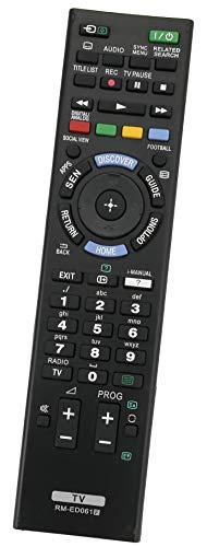 ALLIMITY RM-ED061 Fernbedienung Ersetzen fit für Sony LED LCD Bravia TV KDL-42W805B KDL-48W605B KDL-55W829B KD-55X9005B KDL-32W651A KD-65S9005B KD-49X8505B KDL-55W815B KDL-42W829B