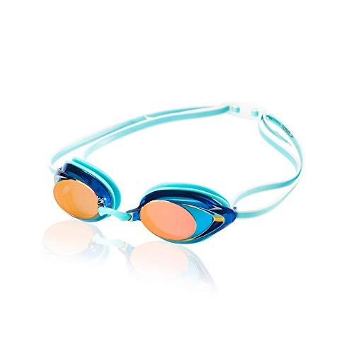 Speedo Competitive Women's Vanquisher 2.0 Mirrored Anti-Fog Swim Goggles, Aqua