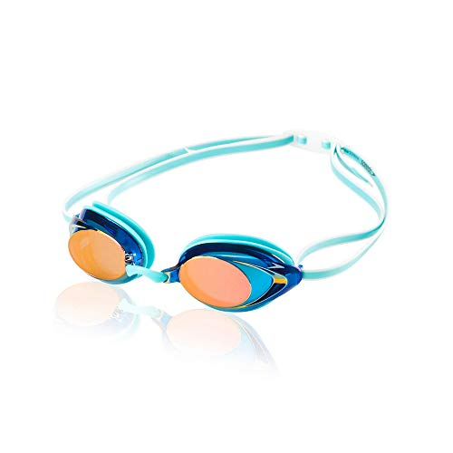 Speedo Women's Swim Goggles Mirrored Vanquisher 2.0 Aqua, One Size