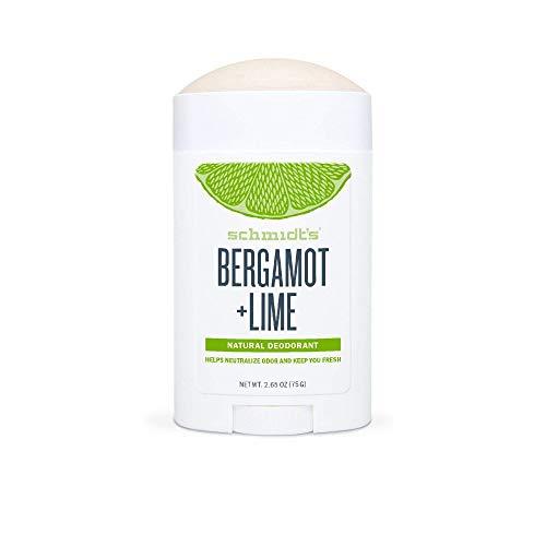Schmidt's Natürlicher Deodorant Stick mit Bergamotte & Limette 75 g Vegan und ohne Aluminiumsalz, effizient 24 Stunden
