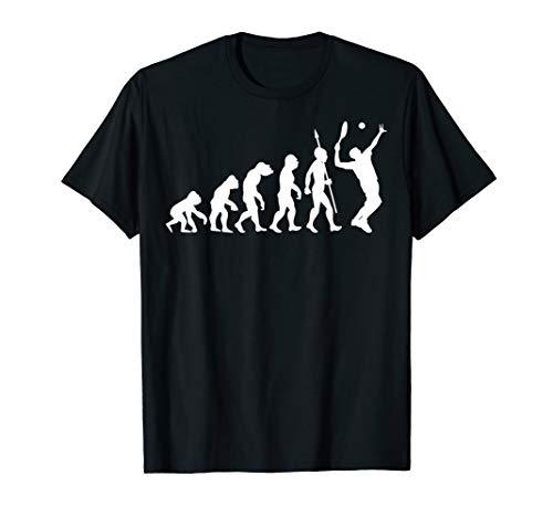 Tennis Evolution Tennisspieler Tennisschläger Sport T-Shirt