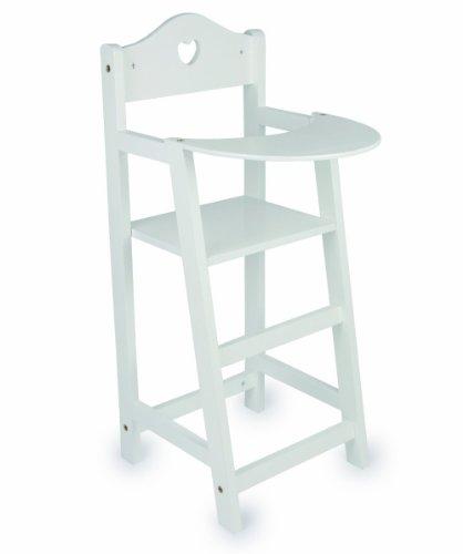 15 Designs Dolls Wooden Set High Chair Rocking Crib Cot Bed Pram Pushchair Girls Toy (White High Chair)