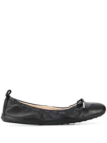 Luxury Fashion | Tod's Dames XXW12C0CJ10SOMB999 Zwart Leer Ballerina's | Lente-zomer 20