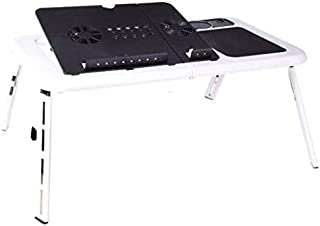Adjustable Portable Laptop USB Folding Table with 2 Cooling Fans Mouse Pad 【C1727 】