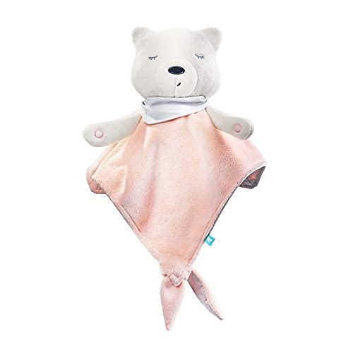 myHummy Einschlafhilfe Baby Doudou Premium rosa weiß | White Noise Baby Einschlafhilfe Kinder zur Baby Beruhigung | My hummy Einschlafhilfe Babys mit sanftem Ausklingen nach 1 Stunde