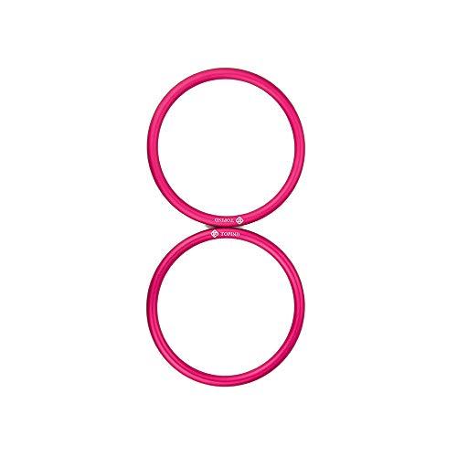 Topind 7,6cm di grandi dimensioni in alluminio portabebè anelli per marsupi e fasce di 2pezzi rosa