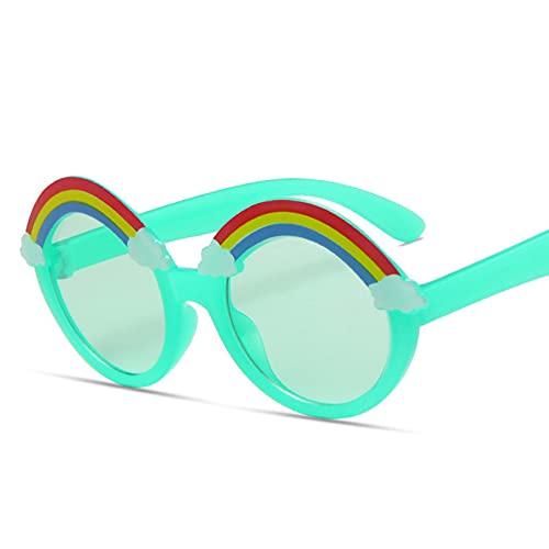 KFYOUXIN Gafas de sol redondas para niños, gafas de sol de arco iris, niñas y niños, lentes de ojos coloridos, sombras para niños, lentes amarillas