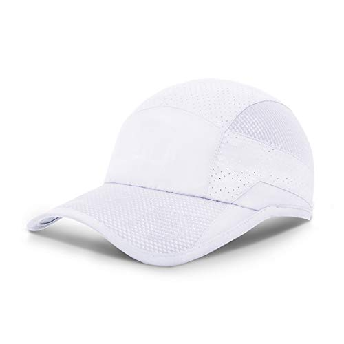 ZEARE schnell trocknend wasserdicht atmungsaktiv Hut Polyester Baumwolle Sonnenhut leichte Baseballmütze Sport Cap Unisex (Weiß 0703)