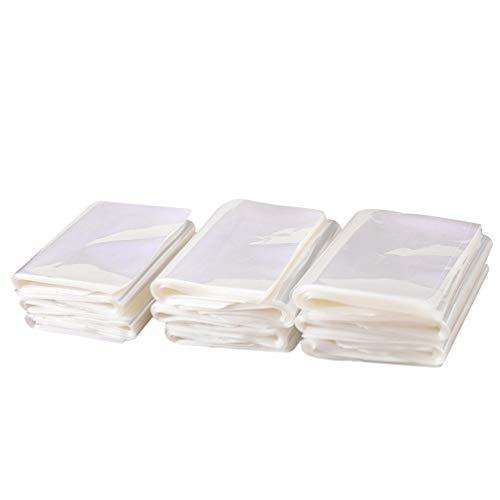 HEALLILY - Lote de 200 bolsas de embalaje termorretráctiles de PVC para libros, bombas de baño, jabones, velas, zapatos, película