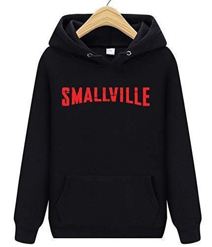 Smallville Unisex Kapuzenpullover für Damen und Herren Gr. Medium, Schwarz