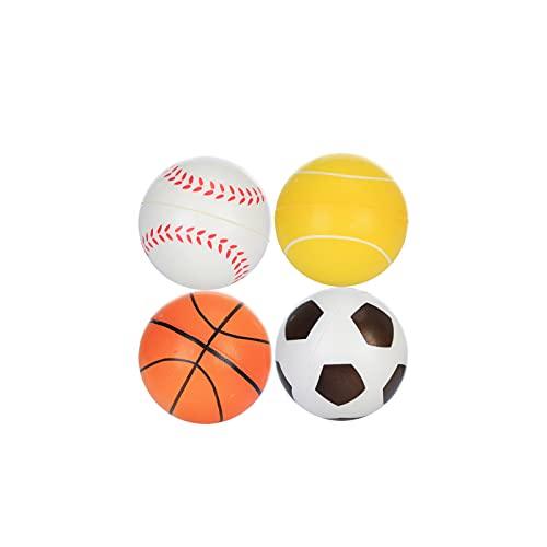 WUMOFIF Weiche Schaumstoff-Sportbälle Slow Rebound Sport Fußball Basketball Tennis Baseball Soft Squeeze Toy mit hoher Elastizität Stress Relief Squishy Squeeze Toy Spielzeug