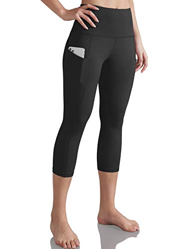 ODODOS Women's High Waisted Yoga Capris with Pocket, Workout Sports Running Athletic...