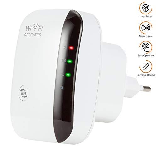 Keyzone WLAN Repeater WLAN Verstärker WiFi Verstärker Super Boost WiFi 300Mbps AP/Relais Zwei Betriebsarten EIN-klick-Verschlüsselungstaste