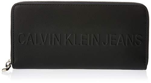 Calvin Klein Box Large Ziparound - Pochette da giorno Donna, Nero...