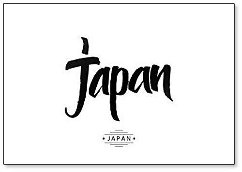Aimant de réfrigérateur avec inscriptions et illustrations japonaises
