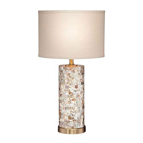 SMEJS Multifunktionale Tischleuchte, runde Perlen-Shell-Fliese White Oval Tischleuchte, perfekte Beleuchtung for Schlafzimmer, Gästezimmer, Wohnzimmer und Büro