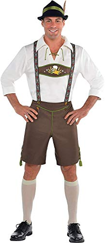 AMSCAN Mr. Oktoberfest Halloween Costume for Men, Large, with Included Accessories
