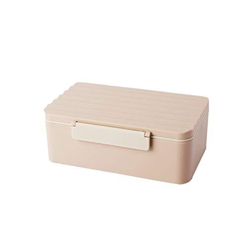 Dzwyc Caja de Almuerzo Fangyuan - Cajas de Bento de Europa del Norte con vajilla de Bolsas aisladas, para Picnic de la Escuela de Oficina (Color : B, tamaño : Square)