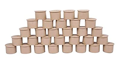 SummitLink Pool Fence Hole Cover Deck Patio Ground Caps (30, AlmondBeige)