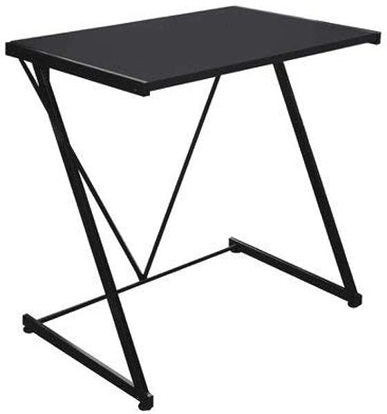 Z Shaped Student Metal Frame Desk Black