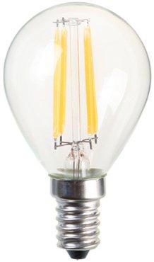 Bulbright G45 4W LED フィラメント電球 E12口金 2700K暖色ウォームホワイト 110-120V 白熱電球30W形相当 全配光タイプ クラシック レトロ電球 1個入