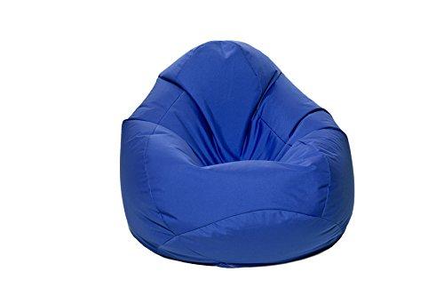 Jumbo Bag 29151-12 Scuba Pouf Poire Polyester Bleu 80 x 80 x 130 cm Taille XXL