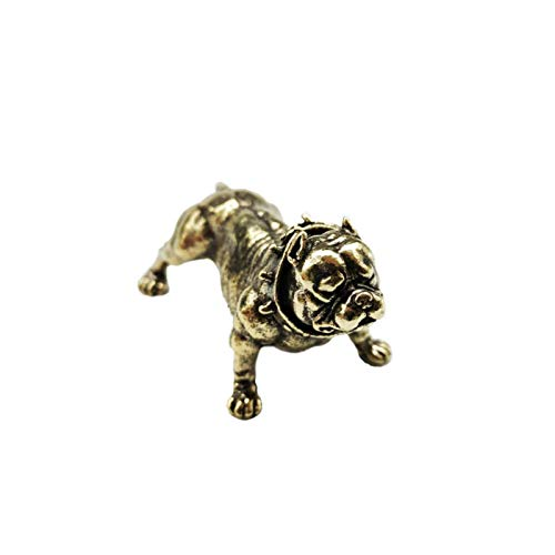 N\C Pure Copper Dog Fighting Statue Ornaments, Brass Living Room Metal Hand Sculpture Crafts French Bulldog