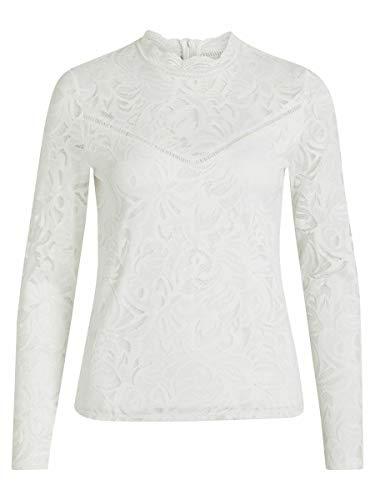 VILA CLOTHES Damska koronkowa bluzka z długim rękawem Vistasia L/S