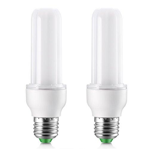 Bombilla LED E27 luz fria, Elrigs 9W LED Tubular Equivalente a 100W Halógenas o 18W Bombillas bajo consumo, 6000K Blanco Frio iluminacion para luz habitacion No Regulable, 2 Unidades